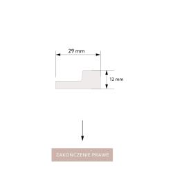 ''P50 White Oak'' Balintas ąžuolas 60mm aukštis medinės faneruotos grindjuostės