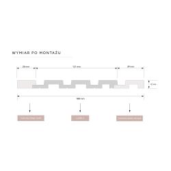 ''P61 White Ash'' Balintas uosis 90mm aukštis medinės faneruotos grindjuostės
