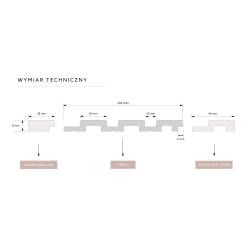 ''P61 Oak'' Ąžuolas natūralus 90mm aukštis medinės faneruotos grindjuostės